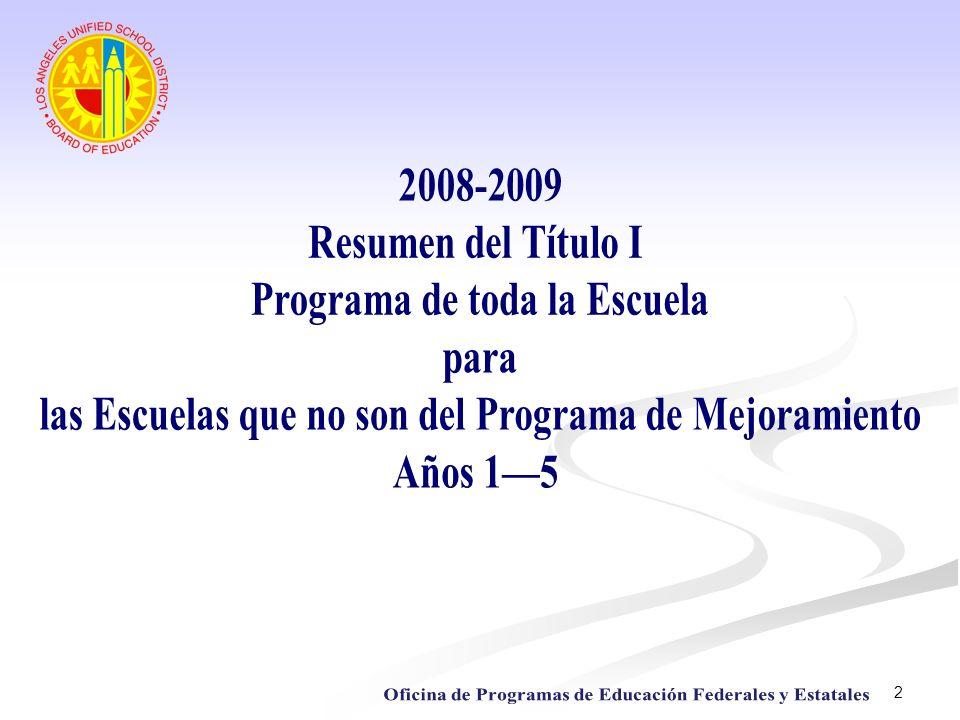 Programa de toda la Escuela para