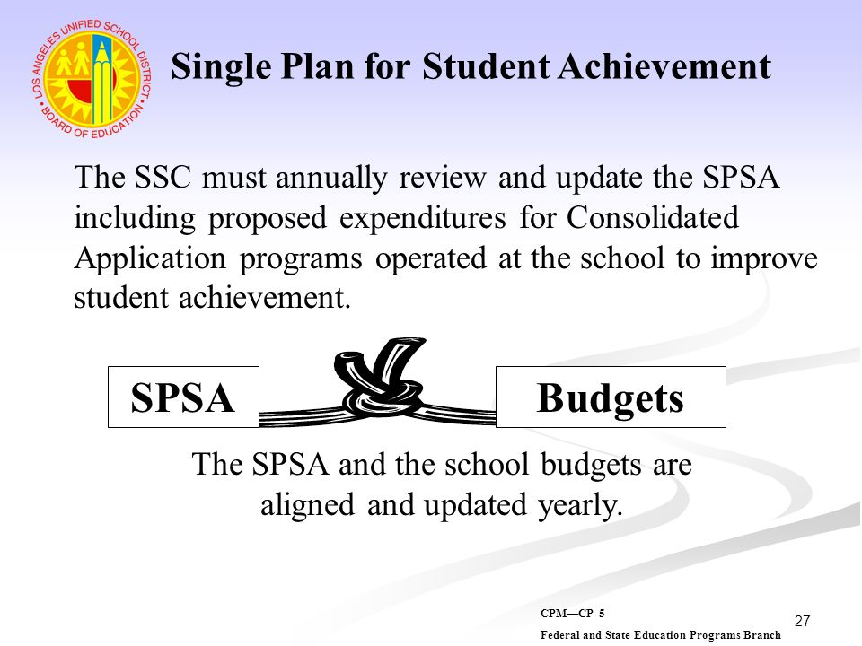 Single Plan for Student Achievement