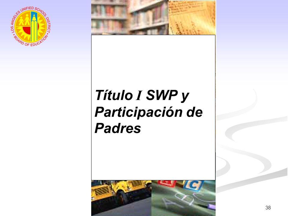 Título I SWP y Participación de Padres