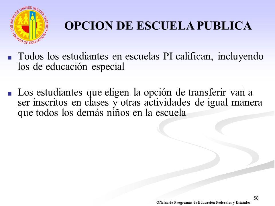 OPCION DE ESCUELA PUBLICA