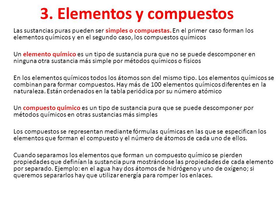 3. Elementos y compuestos