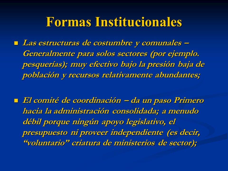 Formas Institucionales