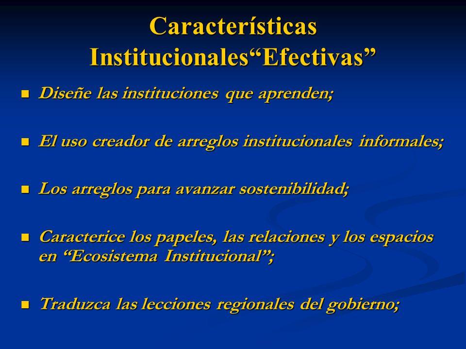 Características Institucionales Efectivas