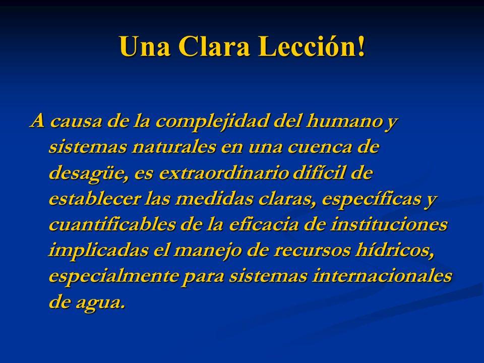 Una Clara Lección!