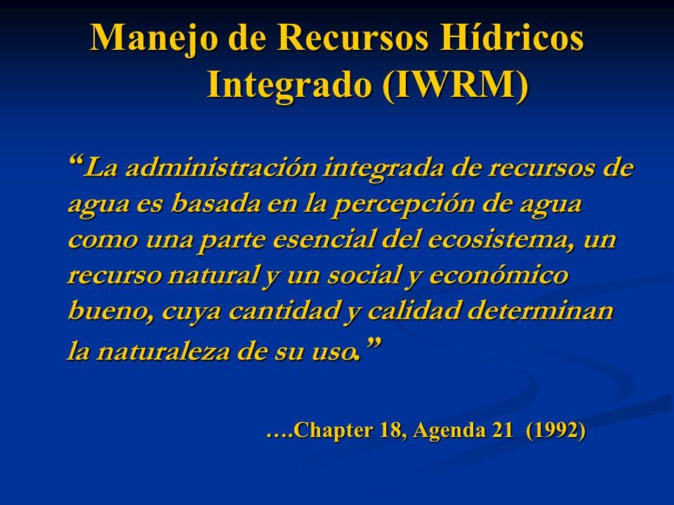 Manejo de Recursos Hídricos Integrado (IWRM)