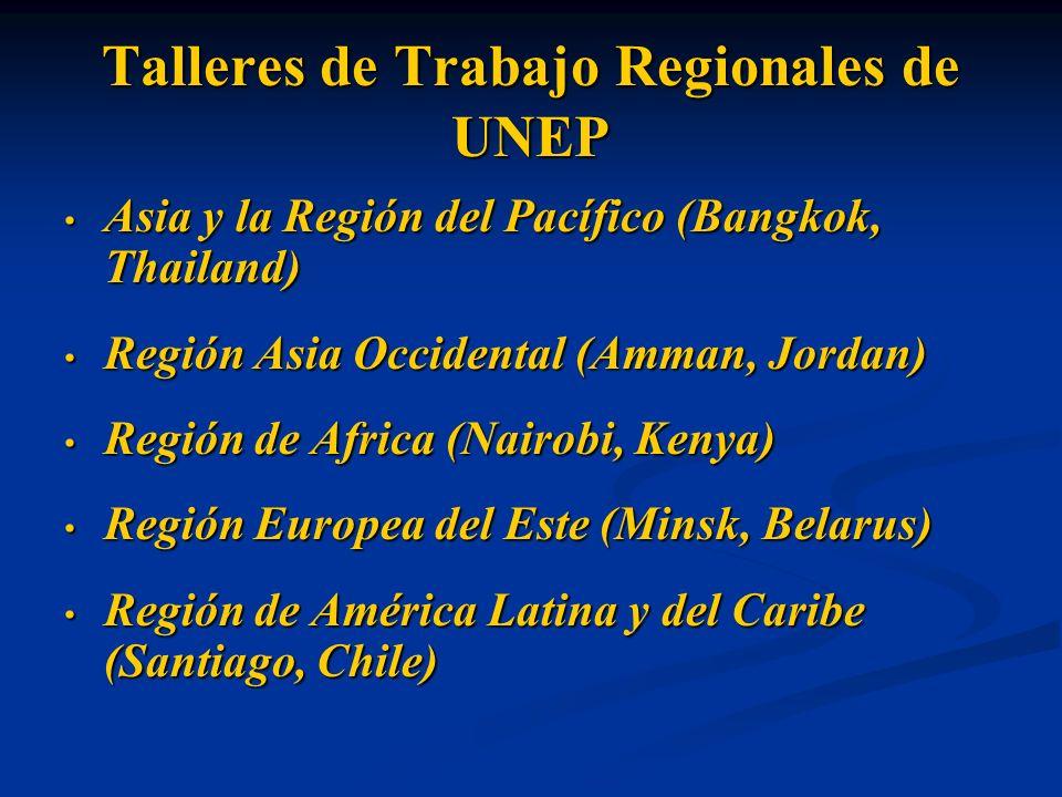 Talleres de Trabajo Regionales de UNEP