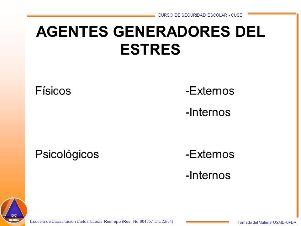 AGENTES GENERADORES DEL ESTRES