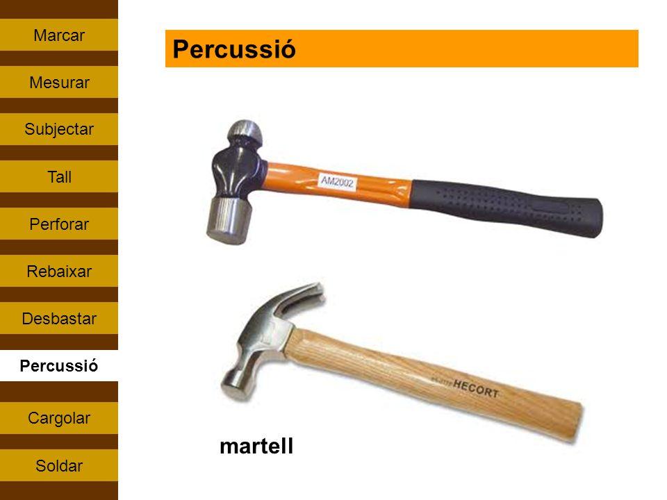 Percussió martell Marcar Mesurar Subjectar Tall Perforar Rebaixar