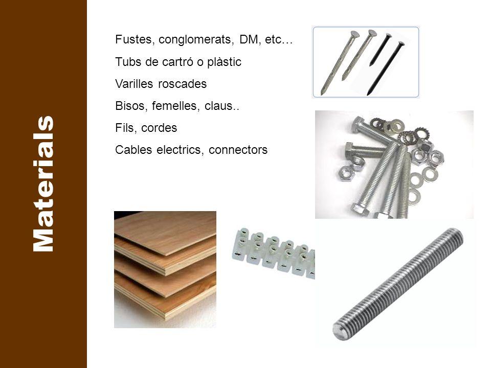 Materials Marcar Fustes, conglomerats, DM, etc…