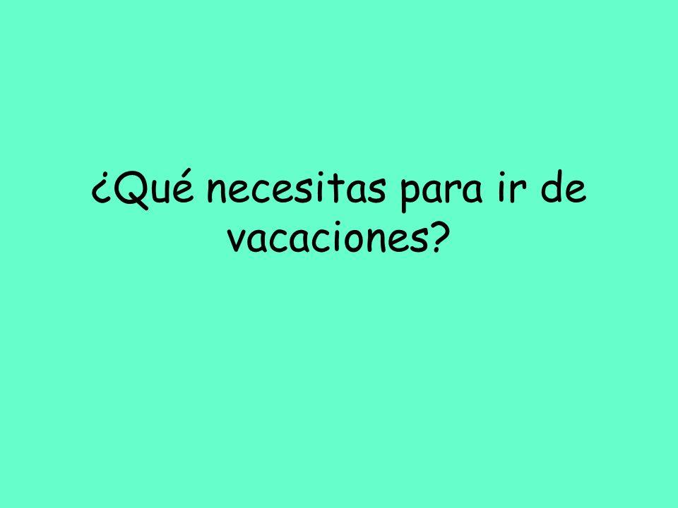 ¿Qué necesitas para ir de vacaciones
