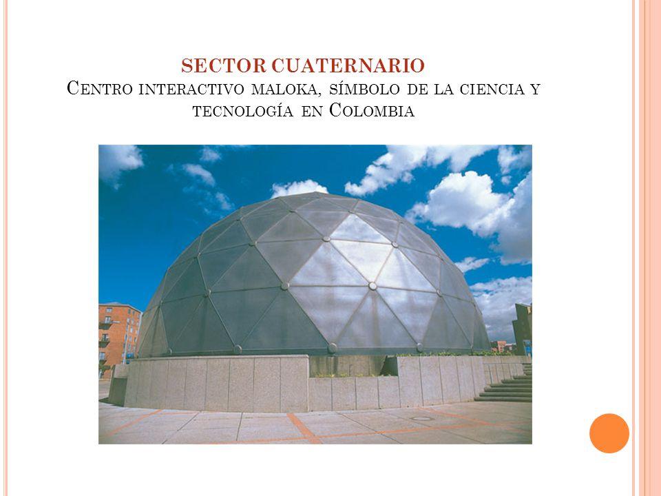 SECTOR CUATERNARIO Centro interactivo maloka, símbolo de la ciencia y tecnología en Colombia