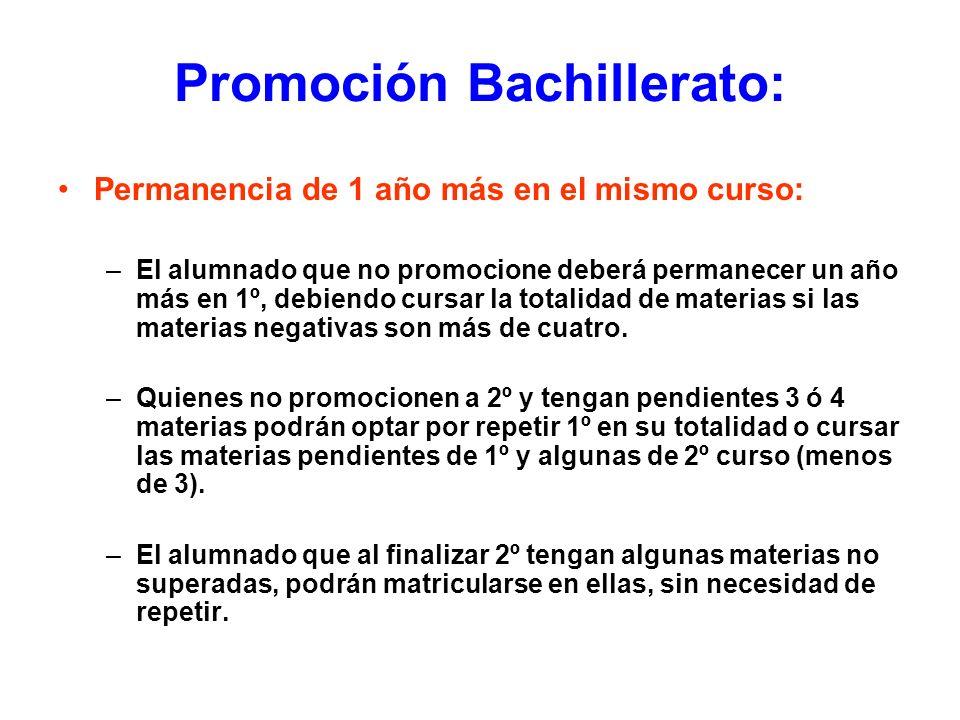 Promoción Bachillerato: