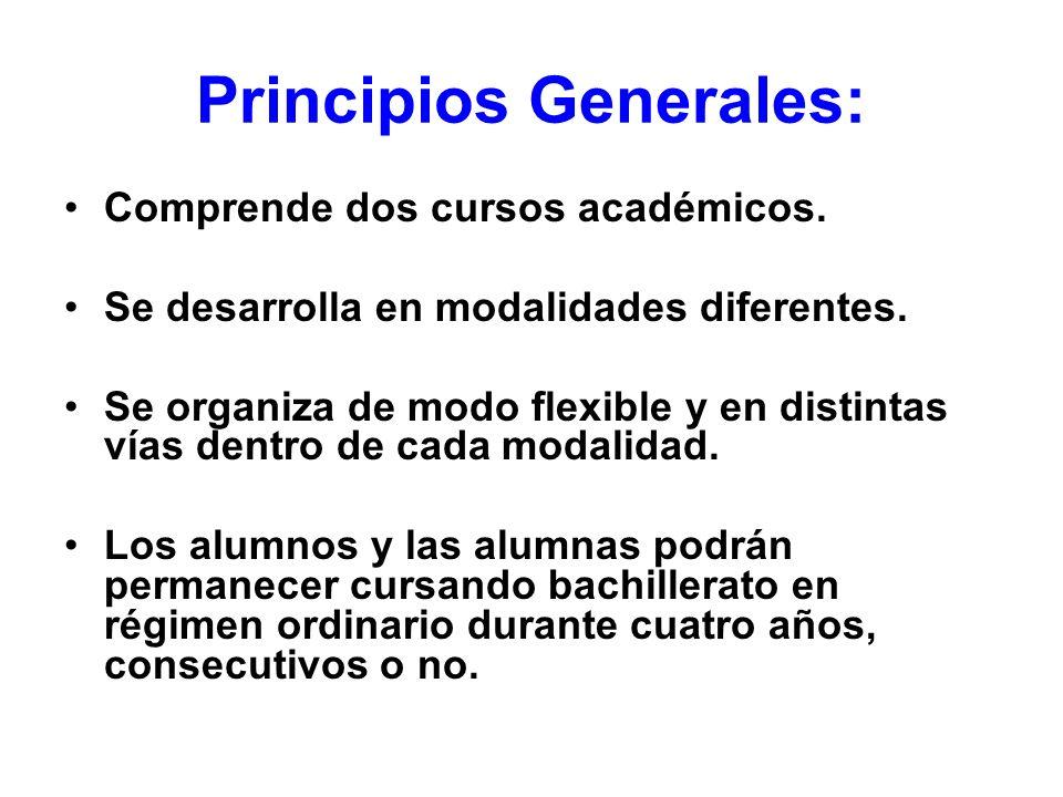 Principios Generales: