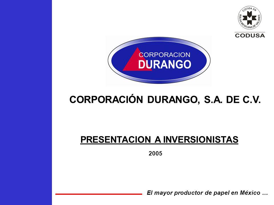 CORPORACIÓN DURANGO, S.A. DE C.V.