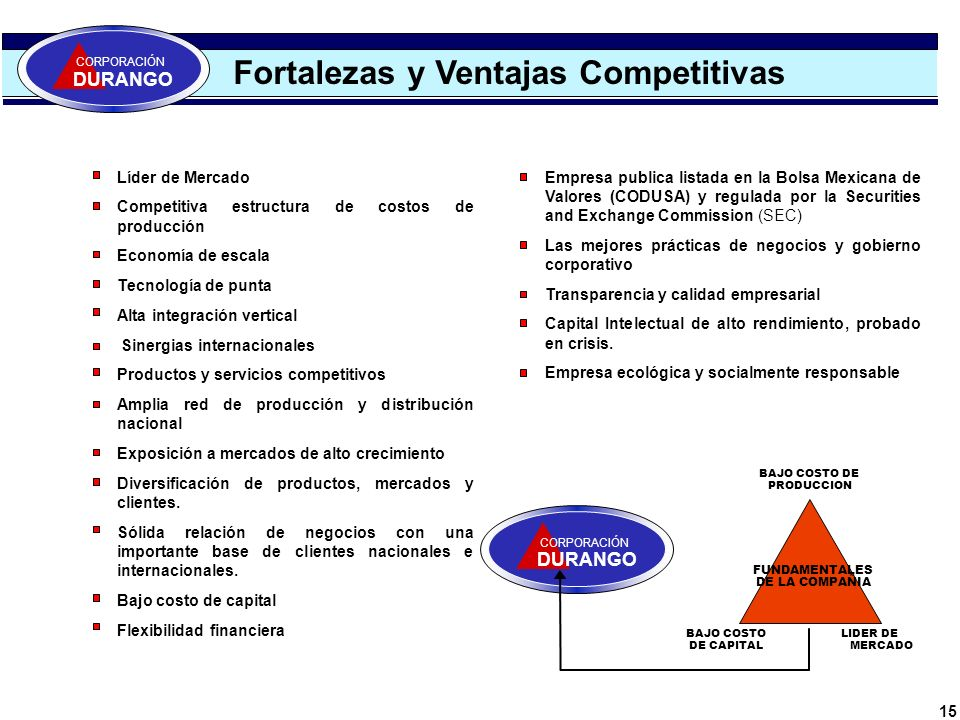 Fortalezas y Ventajas Competitivas