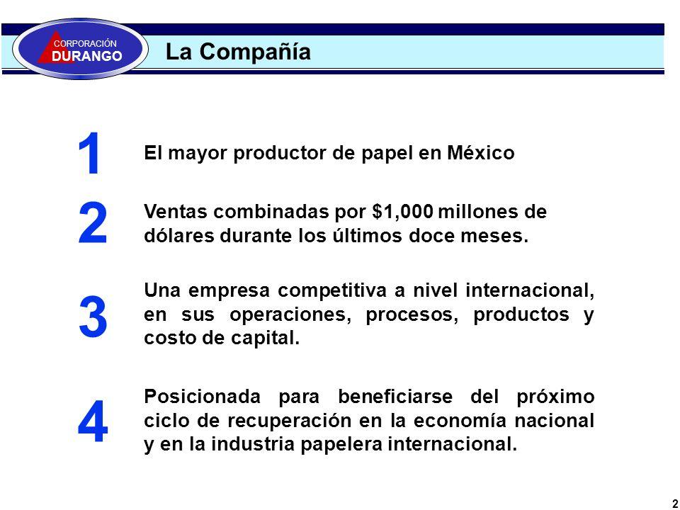 1 2 3 4 La Compañía El mayor productor de papel en México