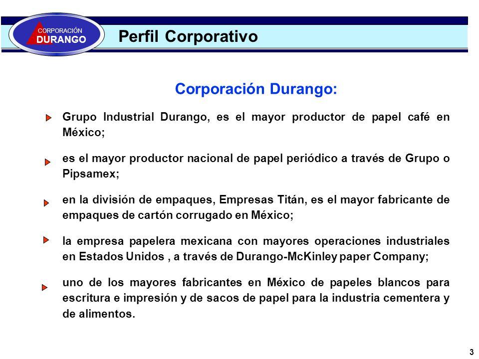 Perfil Corporativo Corporación Durango: