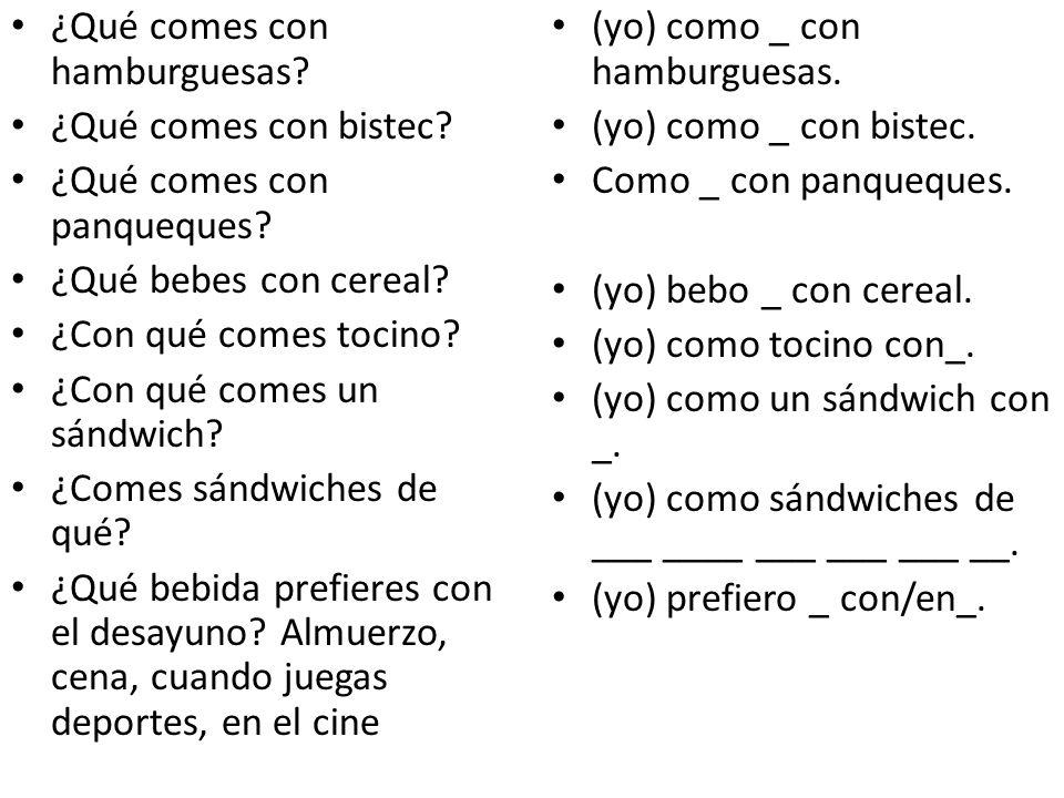 ¿Qué comes con hamburguesas