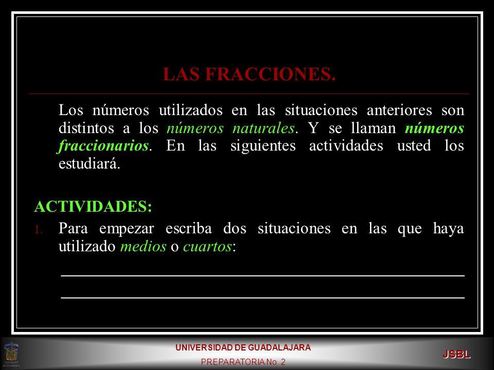 LAS FRACCIONES.