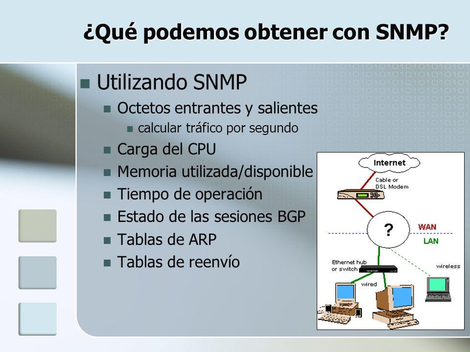 ¿Qué podemos obtener con SNMP