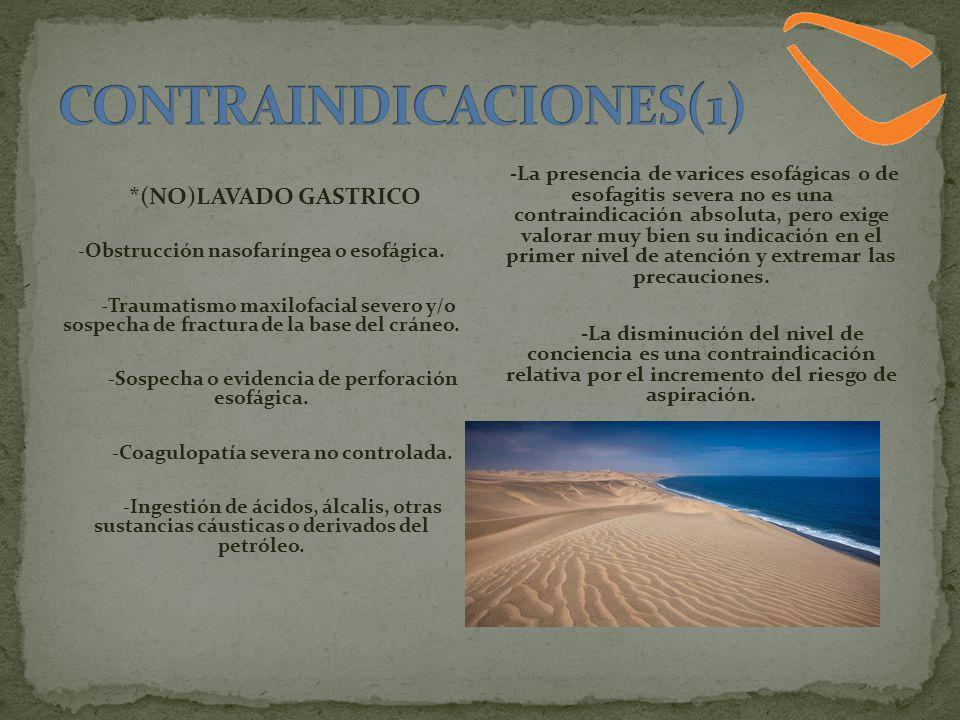 CONTRAINDICACIONES(1)