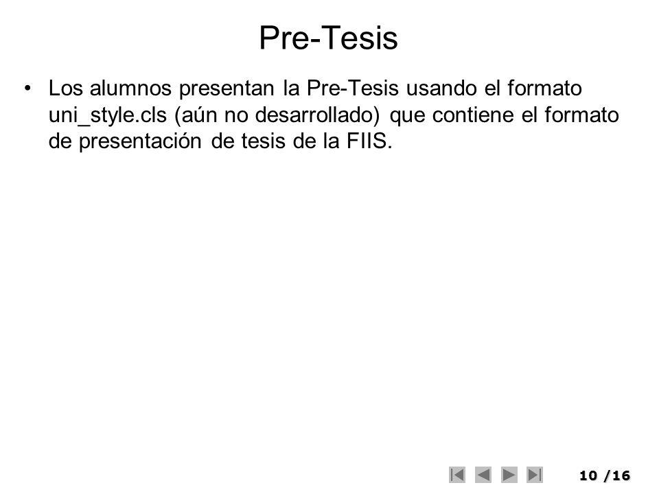 Pre-Tesis