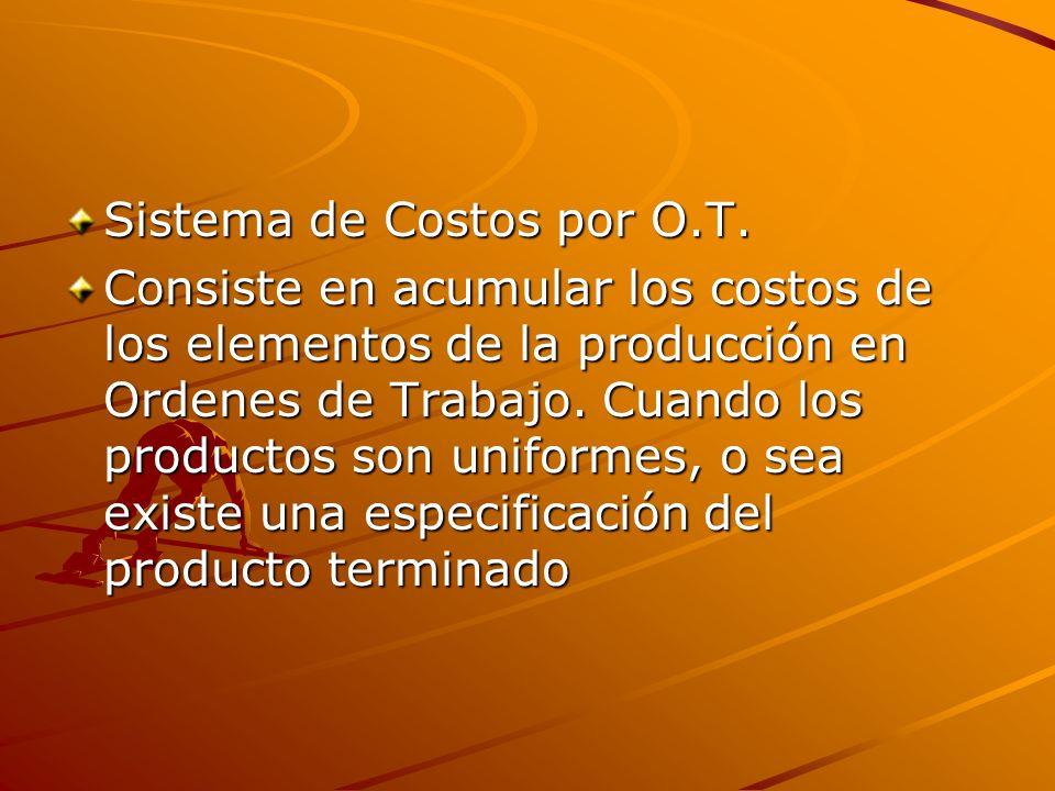 Sistema de Costos por O.T.