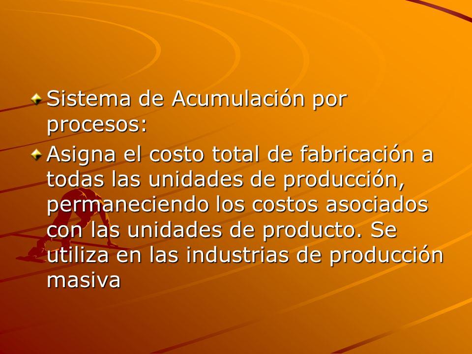 Sistema de Acumulación por procesos: