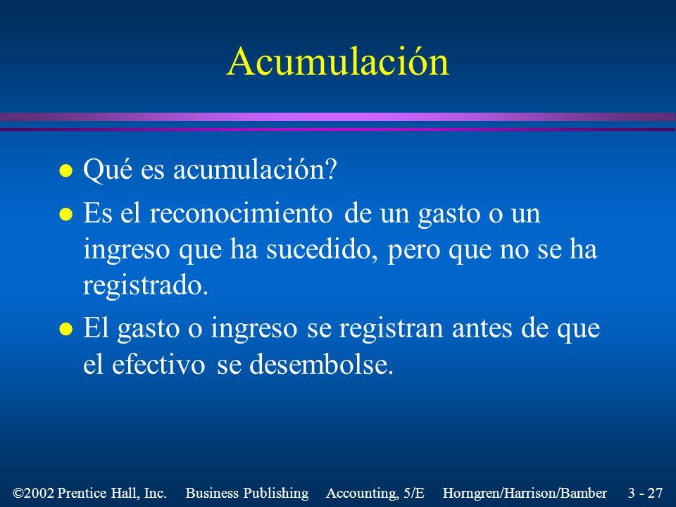 Acumulación Qué es acumulación