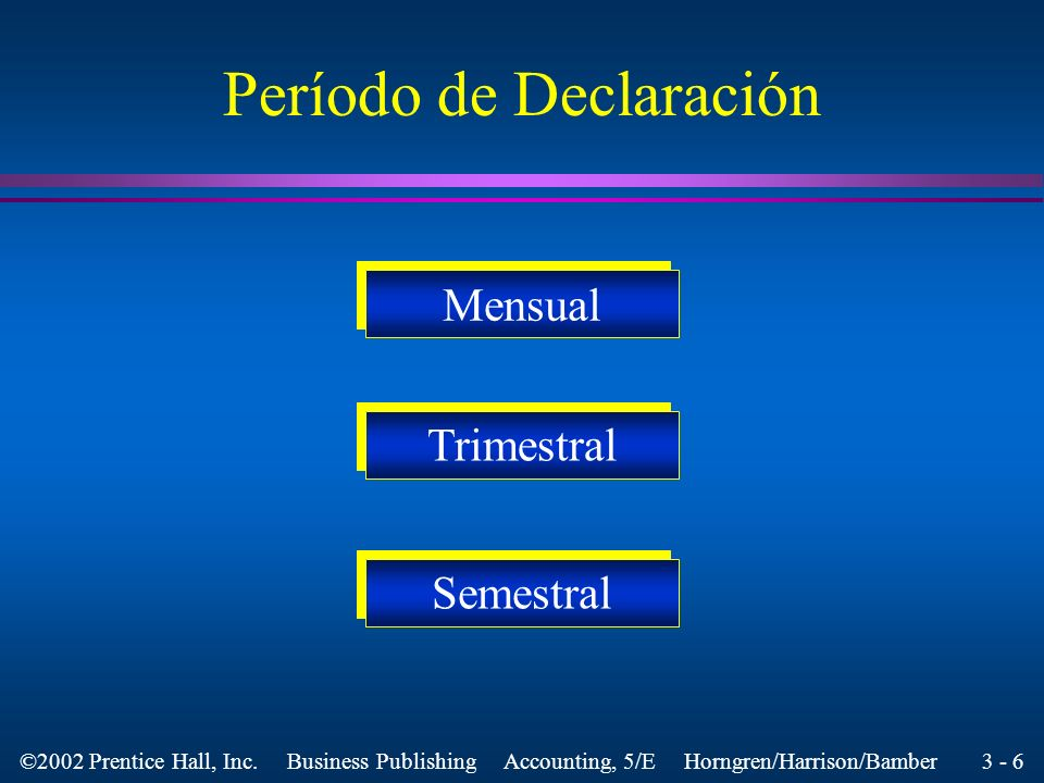 Período de Declaración