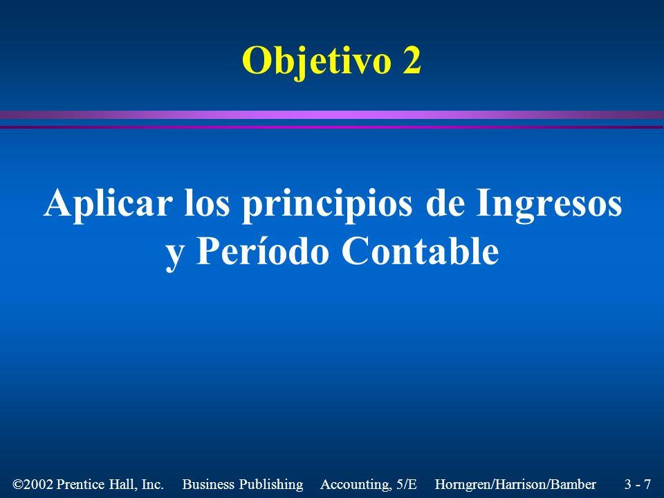 Aplicar los principios de Ingresos