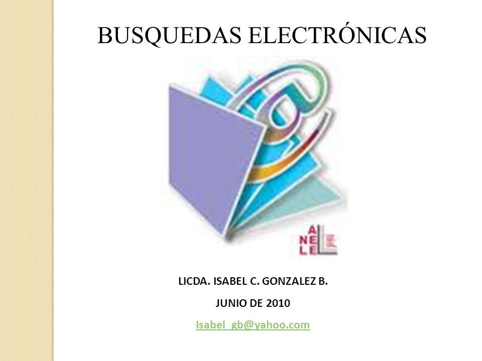 LICDA. ISABEL C. GONZALEZ B.
