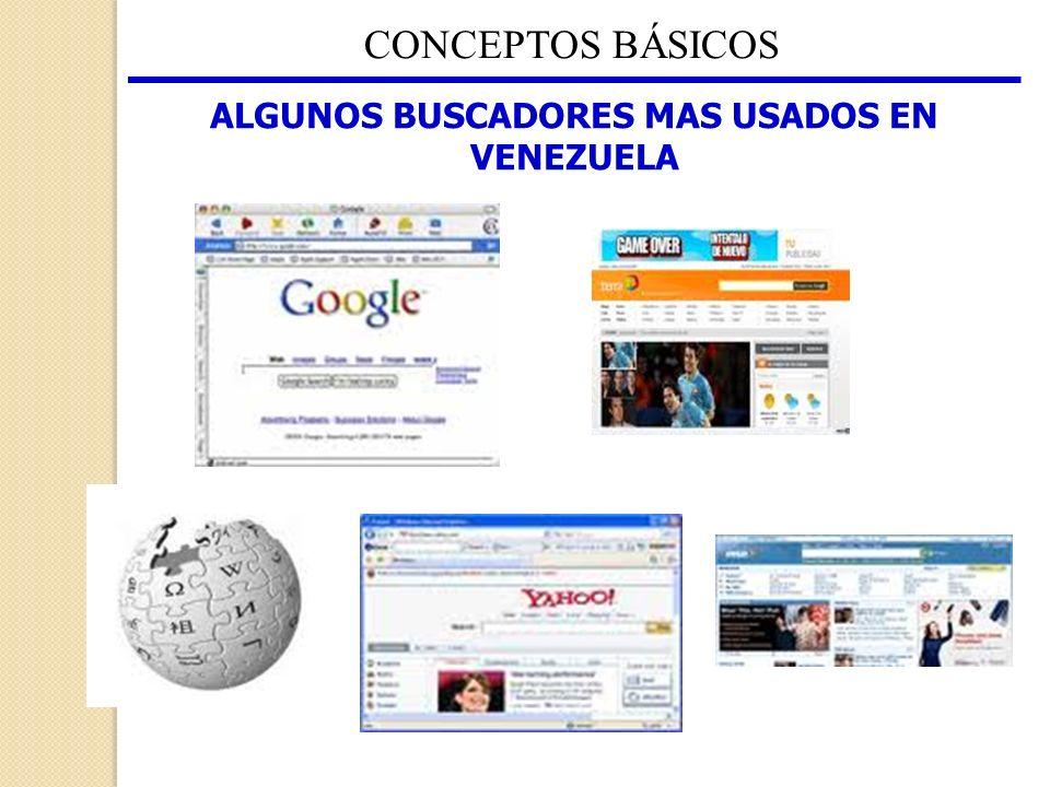 ALGUNOS BUSCADORES MAS USADOS EN VENEZUELA