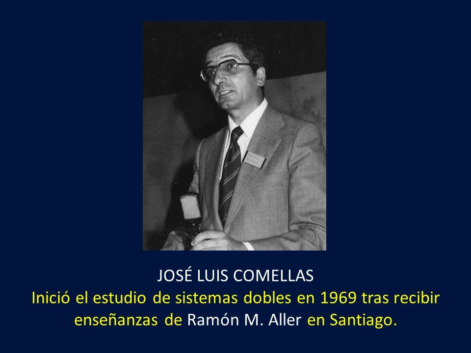 JOSÉ LUIS COMELLAS Inició el estudio de sistemas dobles en 1969 tras recibir enseñanzas de Ramón M.