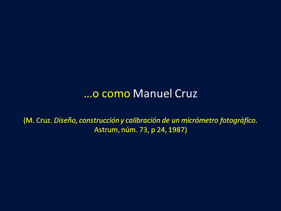 …o como Manuel Cruz (M. Cruz