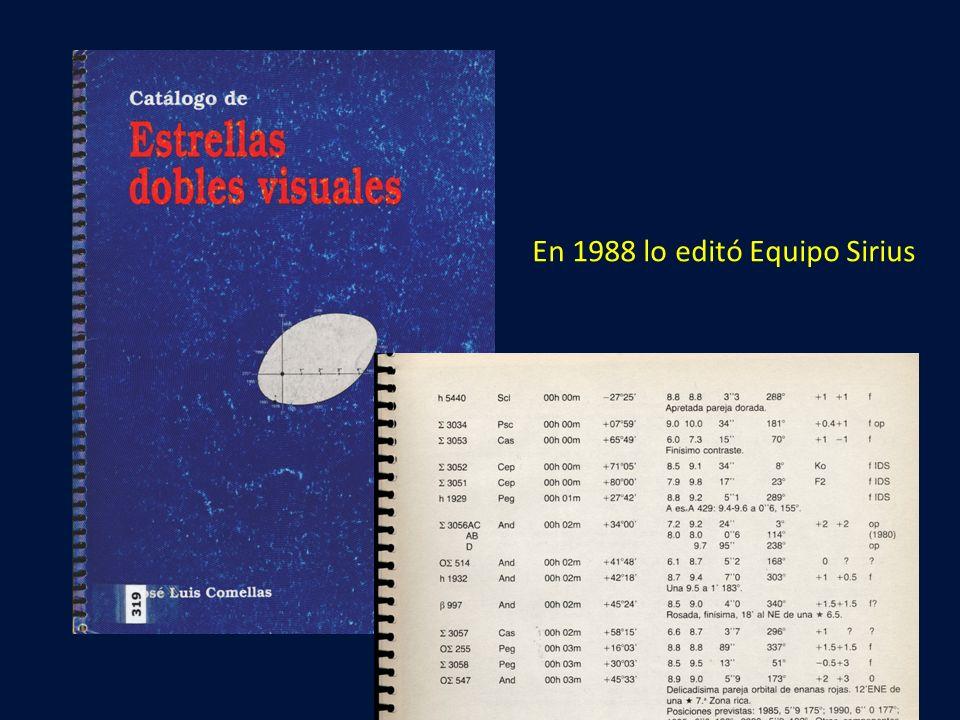 En 1988 lo editó Equipo Sirius