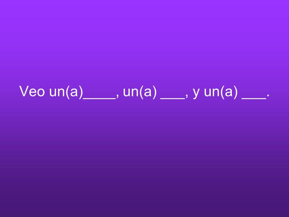 Veo un(a)____, un(a) ___, y un(a) ___.