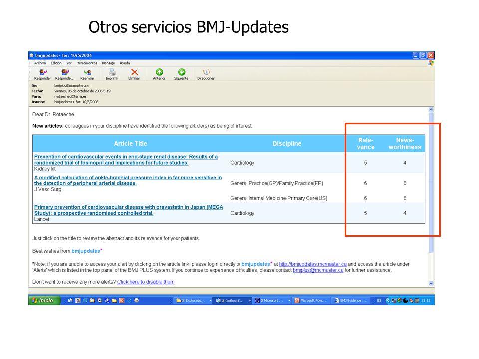 Otros servicios BMJ-Updates