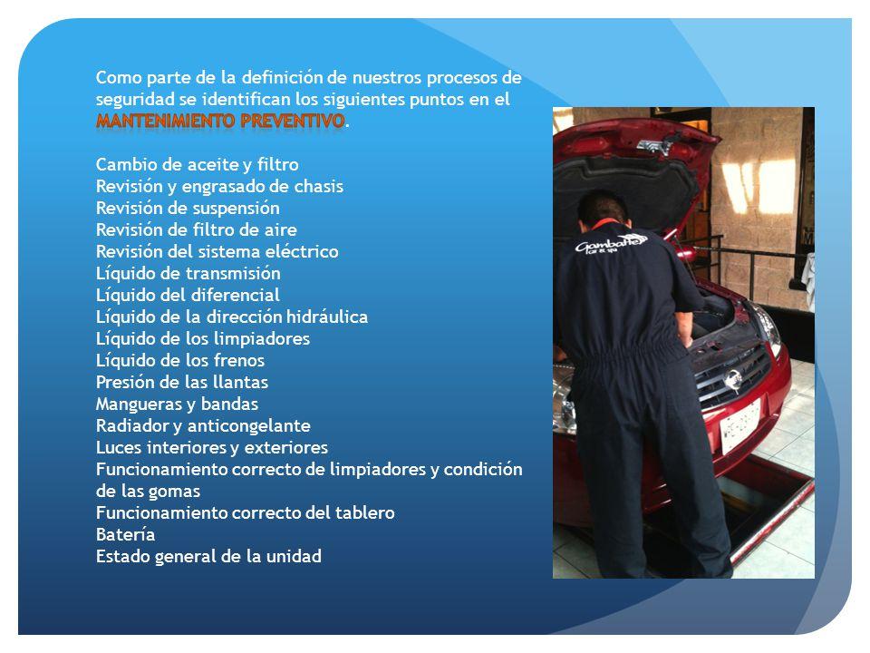 Como parte de la definición de nuestros procesos de seguridad se identifican los siguientes puntos en el mantenimiento preventivo.