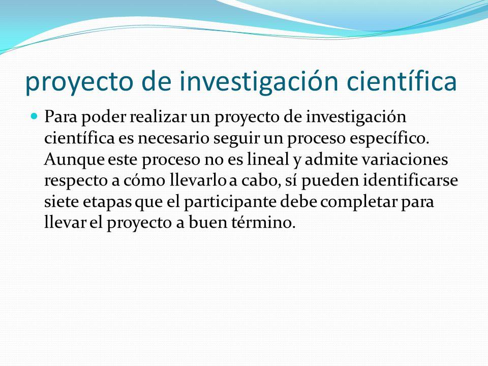 proyecto de investigación científica