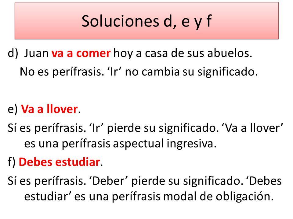 Soluciones d, e y f