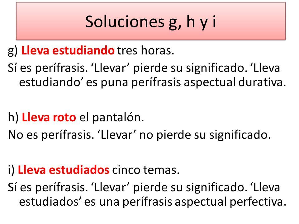 Soluciones g, h y i