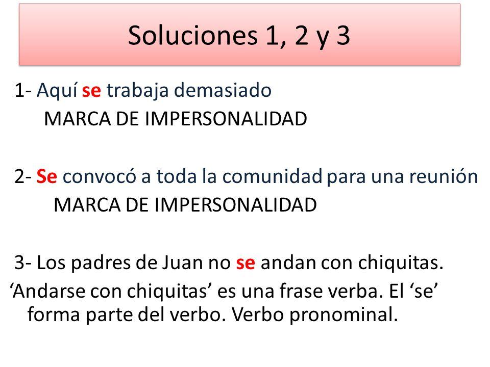 Soluciones 1, 2 y 3