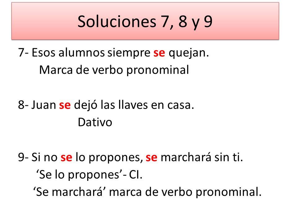 Soluciones 7, 8 y 9