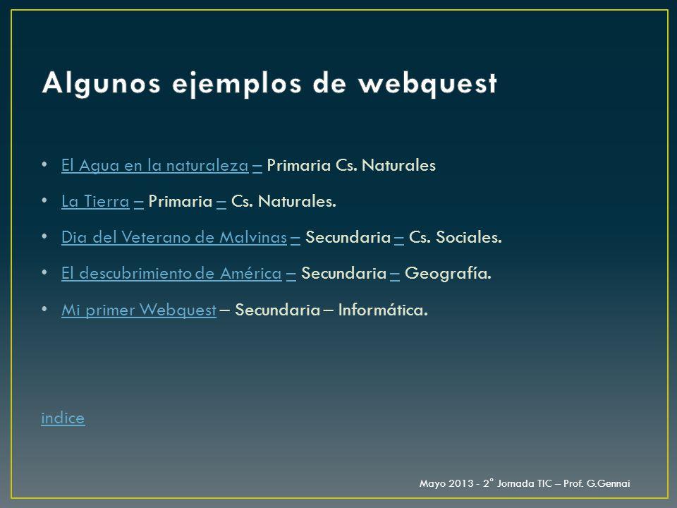 Algunos ejemplos de webquest
