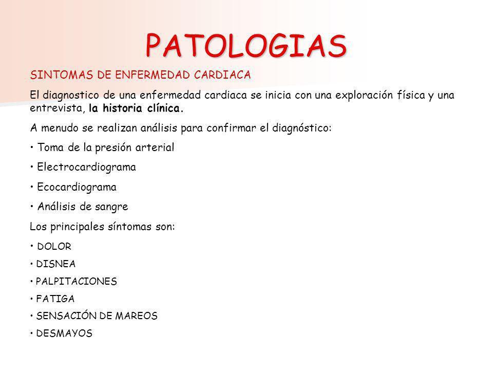 PATOLOGIAS SINTOMAS DE ENFERMEDAD CARDIACA