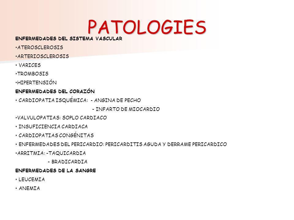 PATOLOGIES ENFERMEDADES DEL SISTEMA VASCULAR ATEROSCLEROSIS
