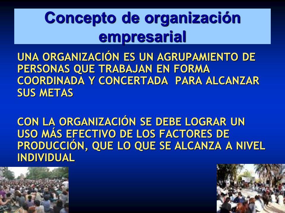 Concepto de organización empresarial