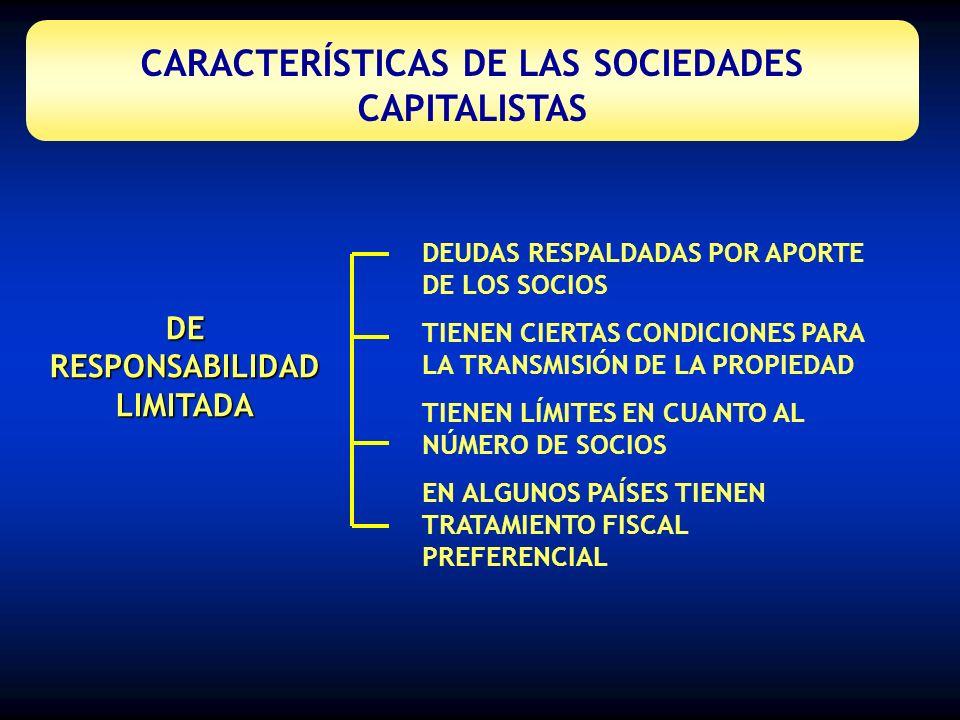 CARACTERÍSTICAS DE LAS SOCIEDADES CAPITALISTAS
