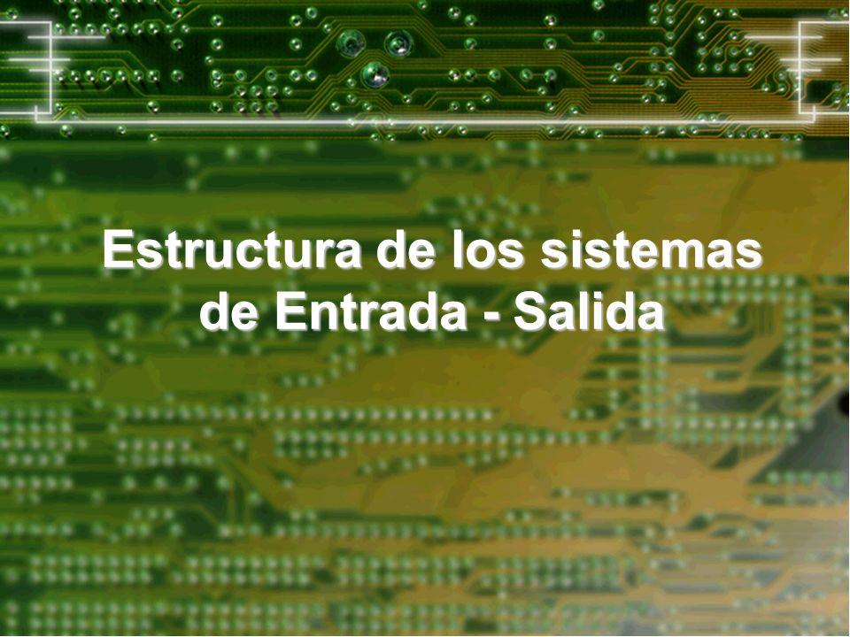 Estructura de los sistemas de Entrada - Salida